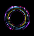 colorful glowing electric neon rings circles vector image vector image