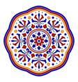 colorful round mandala vector image vector image