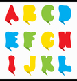 creative colorful alphabet design vector image
