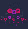 crm customer relationship management infographics vector image vector image