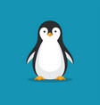 cute penguin icon in flat style vector image vector image