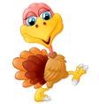 Cute turkey cartoon vector image vector image