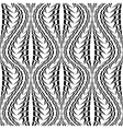 Design seamless monochrome stripy pattern vector image