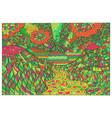 doodle surreal landscape fantastic colorful vector image vector image