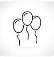 festive balloons thin line icon