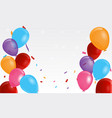 festive border colorful party balloons vector image