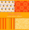 festive seamless pattern collection set of vector image vector image