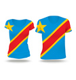 Flag shirt design of Congo DRC vector image vector image