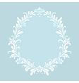 floral baroque ice vector image vector image