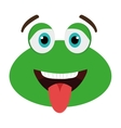 green avatar frog with open mouth graphic vector image