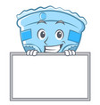grinning with board baby diaper character cartoon vector image vector image