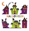 Halloween haunted houses collection vector image vector image