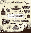happy halloween silhouette collections vector image vector image