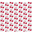love hearts and text messages repeating patten vector image vector image
