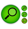magnifier set zoom no high-res version of the vector image vector image