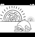 maze activity game with sleeping bear vector image vector image