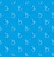 metal glass cup tea pattern seamless blue vector image vector image