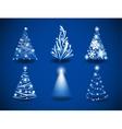 Modern Christmas trees vector image