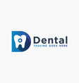 modern dental health logo letter d vector image vector image