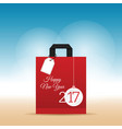 paper bag red with happy new year 2017 on it