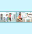 pediatrics care clinic flat vector image vector image