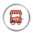 Pizza cart icon in cartoon style isolated on white vector image vector image