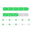 progress steps bar vector image vector image