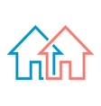 Real estate logo or icon vector image