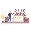 saas service business infrastructure presentation vector image vector image