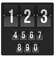 scoreboard with numbers vector image