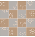 Seamless background with pagan symbols vector image vector image