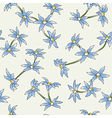 seamless of a blue flowers vector image vector image