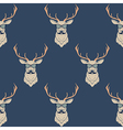 seamless pattern with hipster deer wearing vector image vector image