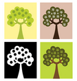 set of abstract trees vector image vector image
