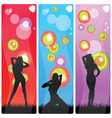 sexy and beauty girls in various poses vector image