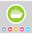 ship ferry boat flat icon badge set vector image