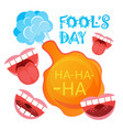 smiling face first april fool day happy holiday vector image vector image