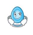 smirking oxygen mask character cartoon vector image