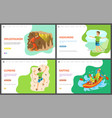 speletourism and wall climbing rafting highlining vector image