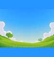 spring and summer landscape - wide angle vector image vector image