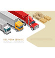 stylish webpage with delivery service vector image vector image