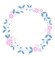 sweet floral wreath on white background vector image