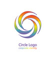 the symbol of an infinite cycle of color vector image