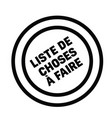to do list stamp in french vector image