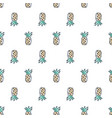 tropical cute hand drawn doodle pineapple vector image vector image