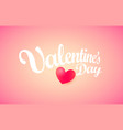 valentines day greeting card with heath vector image