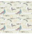 Vintage Seagulls Pattern Background vector image vector image