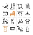 washing icons vector image vector image