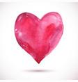 watercolor-heart-pink vector image vector image