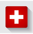 web button with flag switzerland vector image vector image